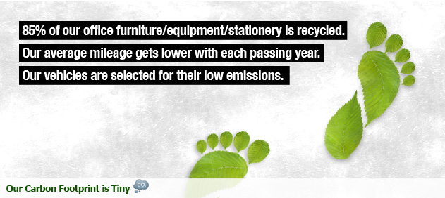 OUR CARBON FOOTPRINT IS TINY